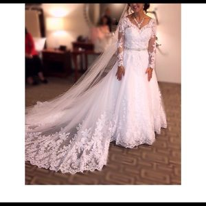 A-line wedding dress!